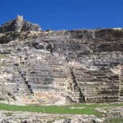 Restoration work in two ancient theatres in the Greek Islands