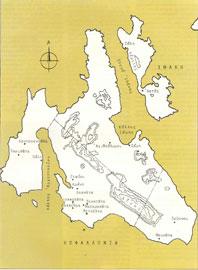 Χάρτης της Κεφαλλονιάς.