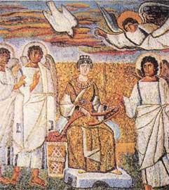 Ο Ευαγγελισμός (5ος αι., Ρώμη, Σάντα Μαρία Ματζόρε).