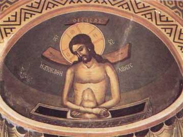 Αγιογράφηση του Αγήνορα Αστεριάδη στο ναό της Παλαιάς Επισκοπής Τεγέας.