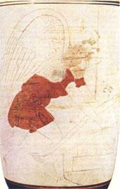 Ο Θάνατος σε αττική λήκυθο του 5ου αι. π.Χ. (Βρετανικό Μουσείο D.59).