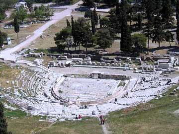 Το αρχαίο θέατρο του Διονύσου στην Αθήνα.
