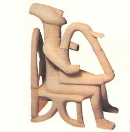 Αρπιστής, μαρμάρινο ειδώλιο από την Κέρο, 2800-2200 π.Χ. (Εθνικό αρχαιολογικό Μουσείο).