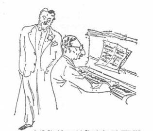 Ο Diaghilev και ο Stravinsky στο σπίτι του Marinetti μια βραδιά των «Intonarumori», 1984.
