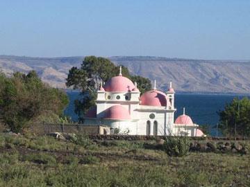 Η ελληνική ορθόδοξη εκκλησία στην Καπερναούμ.