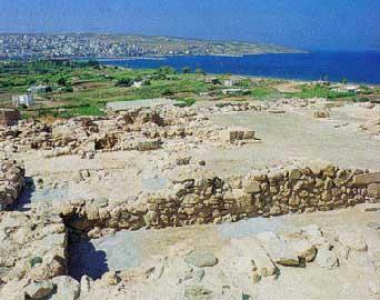 Άποψη του αρχαιολογικού χώρου στον Πετρά Σητείας.