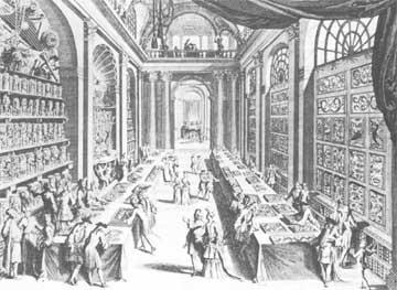 Μουσείο γύρω στο 1690. Χαρακτικό του B. Picart.