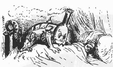 Γκυστάβ Ντορέ, εικονογράφηση από το «Σκασιαρχείο», 1861.