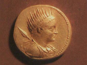 Χρυσό οκτάδραχμο Πτολεμαίου Ε΄ , 2ος αι. π.Χ., Νομισματικό Μουσείο.