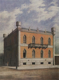 Το μέγαρο Ν. Σαριπόλου στην οδό Πατησίων. Κατεδαφίστηκε. (Εθνικό Ιστορικό Μουσείο).
