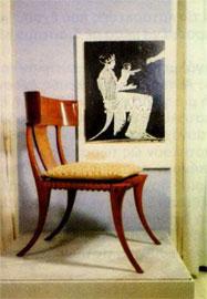 Κλισμός, η αρχαία ελληνική καρέκλα (αντίγραφο).