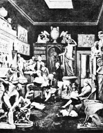 Η συλλογή του Ch. Towneley, πίνακας του Zoffany, 1792. Πολλά από τα έργα που εικονίζονται βρίσκονται στο Βρετανικό Μουσείο.