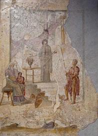 Η Κασσάνδρα προλέγει την άλωση της Τροίας στους Πρίαμο, Πάρι και Έκτορα. Πομπηία, 20/30 μ.Χ. (Εθν. Αρχ/κό Μουσείο Νεαπόλεως).
