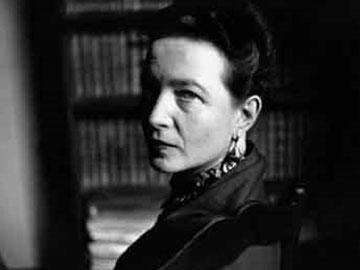 Η Simone de Beauvoir.