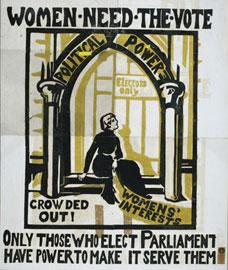 Οι γυναίκες χρειάζονται την Ψήφο, αφίσα, 1910-12.