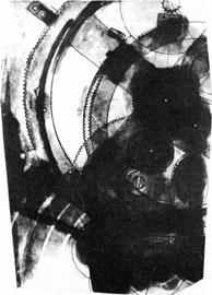 Ραδιογραφία με ακτίνες –Χ τμήματος του μηχανισμού των Αντικυθήρων.
