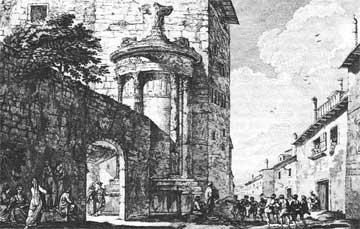 Χαλκογραφία: J.D. Le Roy, Les ruines des plus beaux monuments de la Grèce, Paris 1770, β' έκδ. Γεννάδειος Βιβλιοθήκη.