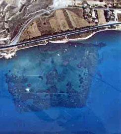 Αμαθούντα: Αεροφωτογραφία του αρχαίου λιμανιού.