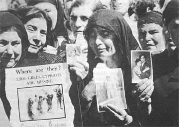 Οι Τούρκοι δεν δίνουν στοιχεία για τους Ελληνοκύπριους που συνελήφθησαν κατά την τουρκική εισβολή.