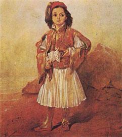 Παπαγιαννάκης, Το Ελληνόπουλο, λάδι σε μουσαμά (Μουσείο Μπενάκη).