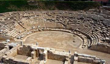 Το αρχαίο θέατρο της Λάρισας.