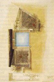 Ρόδος. Συμπύλη (Ροδίνι). Σκίτσο του L.A. Winstrup, Ακαδημία Τεχνών Κοπεγχάγης, αρ. 5933.