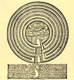 Αναπαράσταση της Ιεριχούς. Εβραϊκή ξυλογραφία 1743.