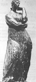 Μπουρντέλ, Πηνελόπη, 1907, χαλκός, 0,61μ. Επανερμηνεία του ελληνιστικού τύπου της «Αιδουμένης».