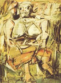 Βίλλεμ ντε Κούνιγκ, Γυναίκα, 1951. Η εξπρεσιονιστική παραμόρφωση επιτίθεται προκλητικά στο κλασικό κάλλος της ανθρώπινης μορφής.