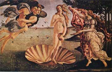 Σάντρο Μποτιτσέλι, Η Γέννηση της Αφροδίτης, 1486, Ουφίτσι, Φλωρεντία.