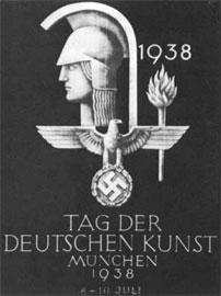 Αθηνά ενωμένη με το ναζιστικό έμβλημα στον Κατάλογο από την επίσημη έκθεση γερμανικής τέχνης.