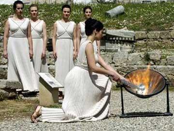 Τελετή αφής Ολυμπιακής φλόγας.