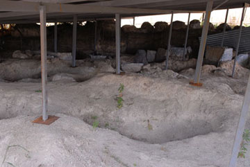 Άποψη από τις ανασκαφές στην αρχαία Αντρώνα Φθιώτιδας.