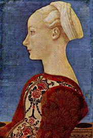 Ντομένικο Βενετσιάνο, Προσωπογραφία πατρικίας, περ. 1450, Μουσείο Ντάλεμ, Βερολίνο.