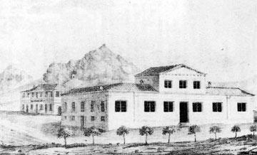 Το κτίριο του Εθνικού Τυπογραφείου το 1837.