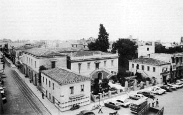 Άποψη του συγκροτήματος των κτιρίων του Δημαρχείου Άργους (1979). Αριστερά φαίνεται το κτίριο-προσθήκη του 1889-90.