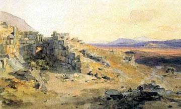«Η πύλη των Λεόντων και η πεδιάδα του Άργους». Ακουαρέλα (1836-37) του Rottmann Carl. Κρατική Συλλογή Γραφικών, Μόναχο.