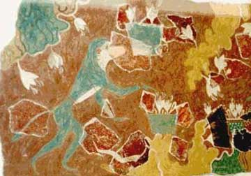 Ο «κροκοσυλλέκτης πίθηκος» από το «Σπίτι των τοιχογραφιών» της Κνωσού χρονολογείται περίπου στο 1500 π.Χ.