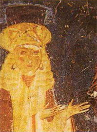 Οι Βυζαντινοί προτιμούν τις ξανθιές, με λεπτά, βγαλμένα φρύδια, τονισμένα με μαύρο χρώμα (Άγ. Ανάργυροι Καστοριάς).