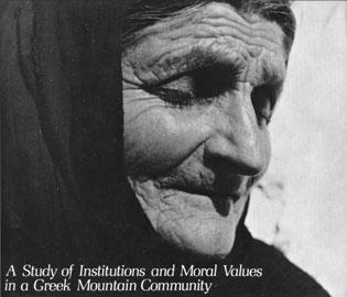 Σαρακατσάνα γιαγιά στο εξώφυλλο του J.K. Campbell, «Honour, Family and Patronage», Oxford University Press, 1964.