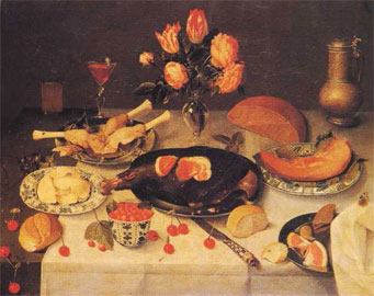 Jacob van Hulsdonck (1582-1647), «Νεκρή φύση με φαγητά».