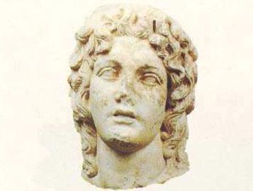 Κεφαλή του Βαφύρα, της προσωποποιημένης μορφής του ποτάλιου θεού του Δίου. 2ος αι. μ.Χ.