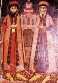 Οι αδελφοί Μόσχος και Φράγκος Στραβοένογλου, κτήτορες της Μονής Ρεντίνας (1662).