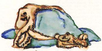 Ζευγάρωμα χταποδιών: Το αρσενικό απλώνει, για να δείξει στο θηλυκό, το πλοκάμι που χρησιμεύει στο ζευγάρωμα.