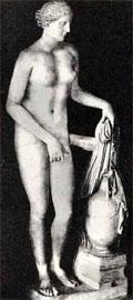 Κνιδία Αφροδίτη, έργο του Πραξιτέλη, περί το 350-330 π.Χ. Ρωμαϊκό αντίγραφο.