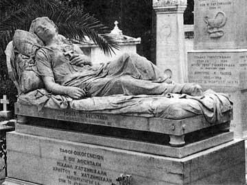 Γ. Χαλεπάς, Τάφος Σοφίας Αφεντάκη (Κοιμωμένη), 1878.