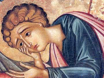 Λεπτομέρεια τοιχογραφίας από το Καθολικό της Ιεράς Μονής Βατοπαιδίου.