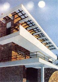 Θ. Βαλεντής – Π. Μιχαηλίδης, προοπτικό σχέδιο της οικίας Αβέρωφ, Κηφισιά, 1940.