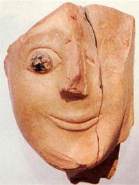 Κεφάλι «σφίγγας» (600-575 π.Χ.) αφιερωμένο στη Νέμεση.