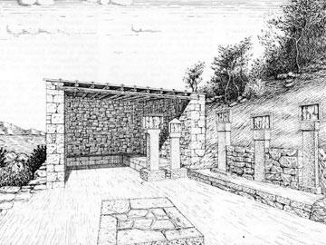 Το Αμφιάρειο του Ραμνούντος. Αναπαράσταση (σχ. Κ. Ηλιάκη).